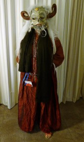Here's the finished result day 1 - no facepaint, with shawl.