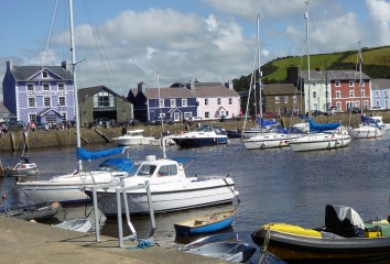 We had lunch on the harbour at Aberaeron...