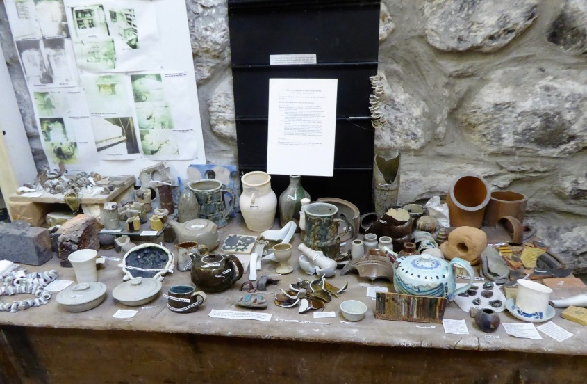 Harlech Pottery has a great selection of art and some lovely ceramics. But the potter also has this brilliant exhibition of all the things that can go wrong.