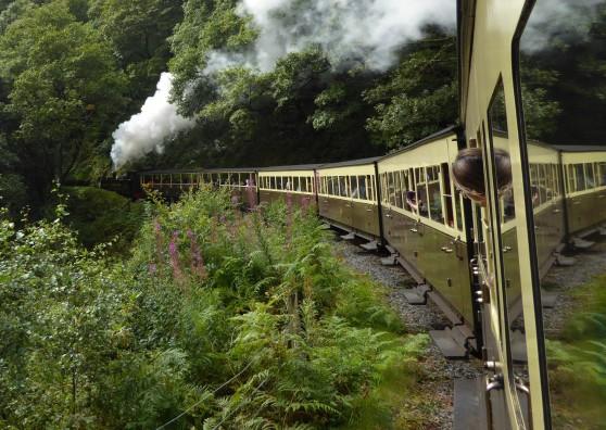 We took a ride on a steam train on the Vale of Rheidol railway from Aberystwyth...