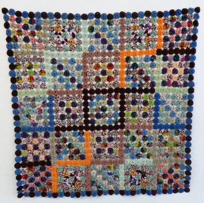 """This vintage quilt is a """"Suffolk Puff"""", made in Kent during WW2."""