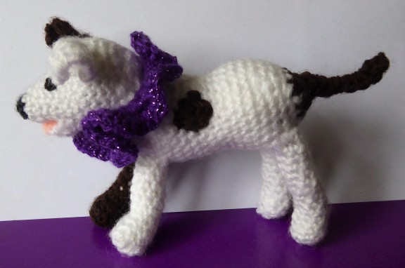 My first go at making a crochet dog. Wanted a generic little mongrel.