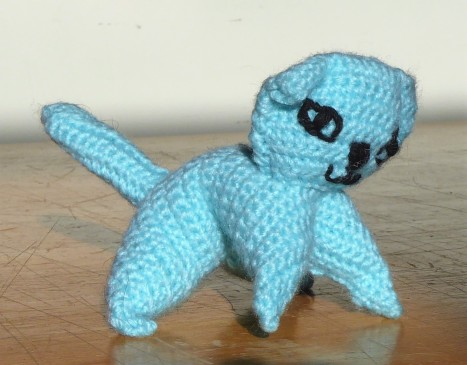 Started by customising cats I'd made to make them more individual. Little Sky was the first cat I made (kitten sized crochet).