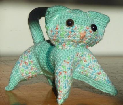 Socks was crochet cat #2.