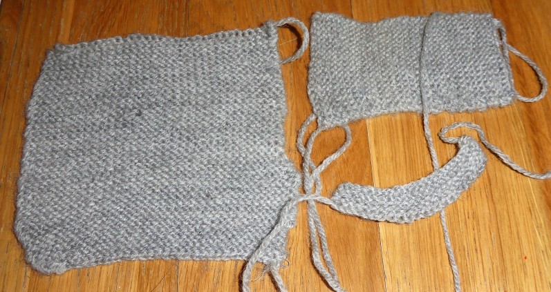 The knitting on this one is even worse. Holey and wobbly edged. It became...
