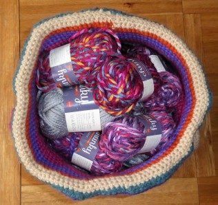 I can fit a lot of balls of yarn in here!