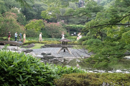 The traditional garden in the Imperial Palace East Gardens, Tokyo..