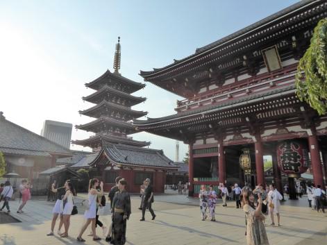Senso-ji temple complex.