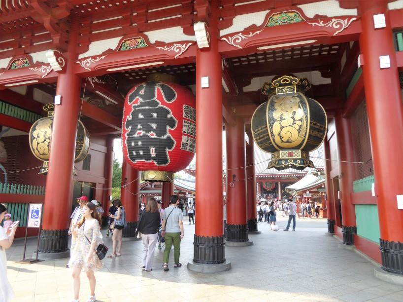 The entrance to Senso-ji Buddhist temple in Asakusa, Tokyo.