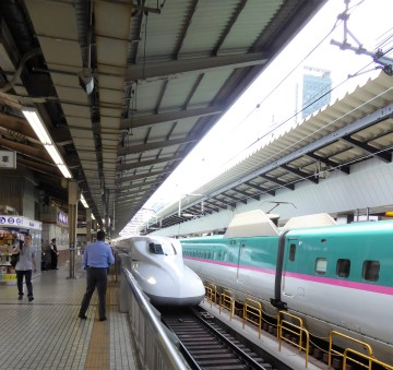 The bullet train we caught for a day trip to Hakone, to try and get a view of Mt. Fuji.