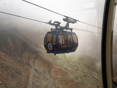 Time to get a cable car to some serious volcanic activity at Owakudani.