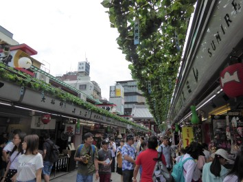 The street market leading to the temple, selling crafts, souvenirs and yummy street food.
