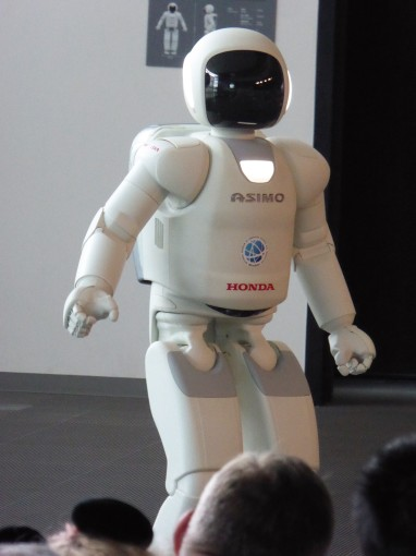 The star of the show, Honda's Asimo.