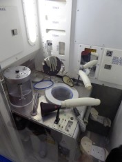 Space toilet! As used aboard the ISS.