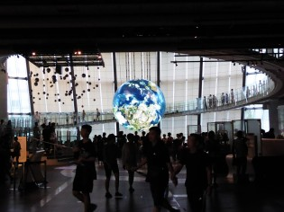 A good day to stay inside at Miraikan, the National Museum of Emerging Science and Innovation.
