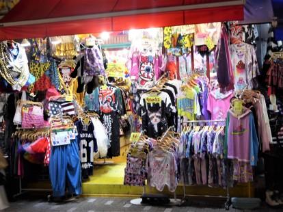 A T shirt shop in Harajuku.
