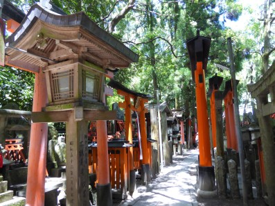 A whole avenue of shrines leading to...