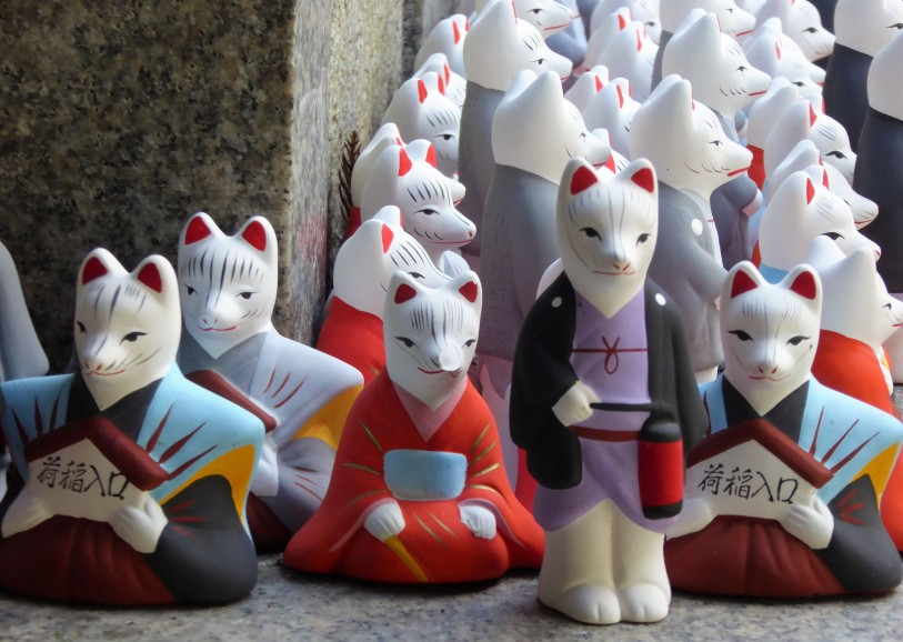 A close up on the little foxes.
