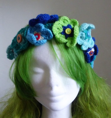 Went a bit mad with flower power and made some headbands for the shop.