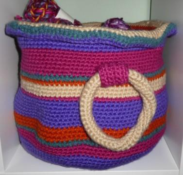 My first chunky yarn storage basket.